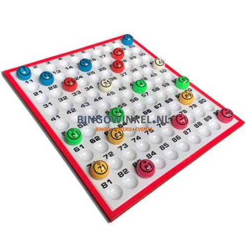 bingo controlebord voor grote bingoballen