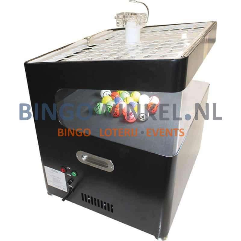 Bingo Blower machine zwart zijkant