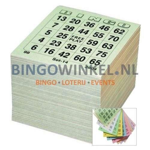 bingokaarten 10 game single compleet