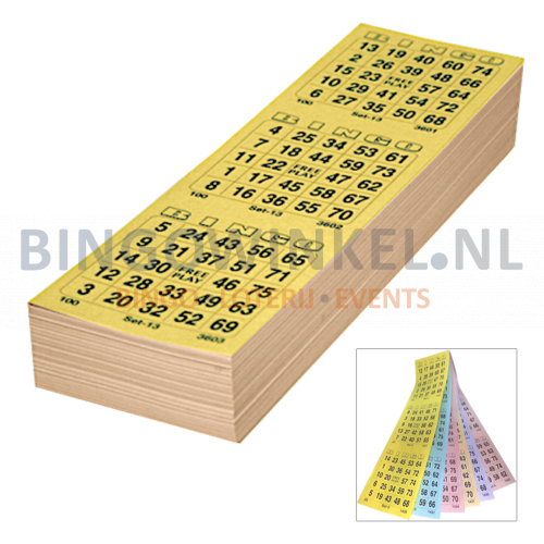 bingokaarten 6 game compleet