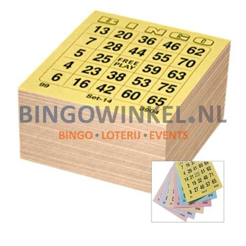 bingokaarten 6 game single compleet