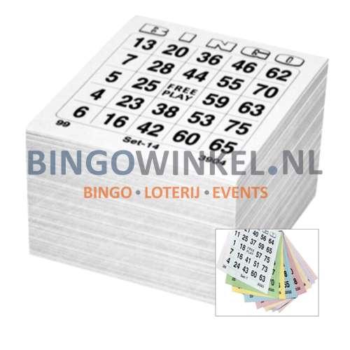bingokaarten 8 game single compleet