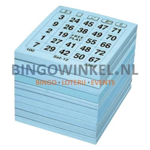 bingokaarten blauw single
