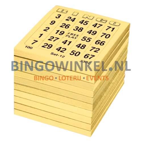 bingokaarten geel single