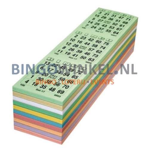 bingokaarten kleurenmix