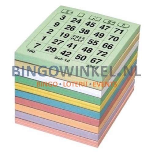 bingokaarten kleurenmix single