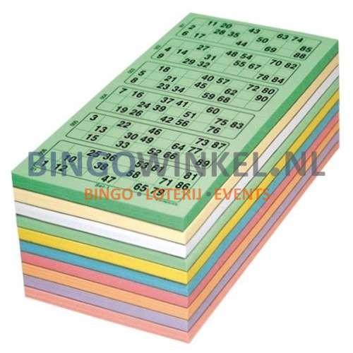 kienkaarten kleurenmix