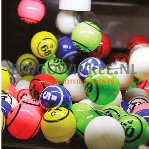 Bingo Blower machine zwart ballen close-up