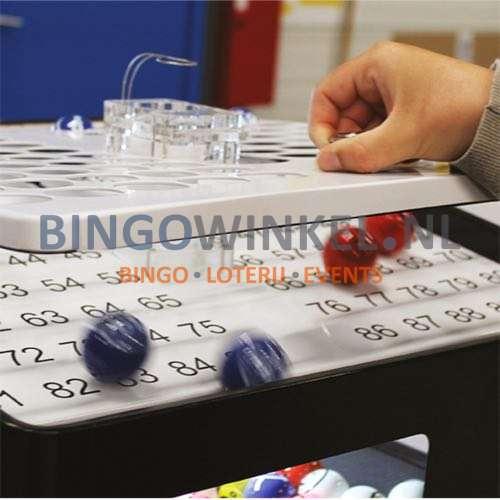 Bingo Blower machine zwart deksel omhoog