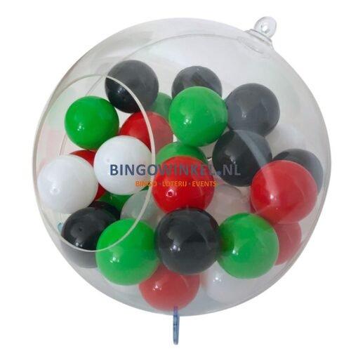 Loterijballen in bol zijkant