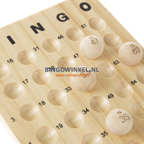 bingo controlebord hout
