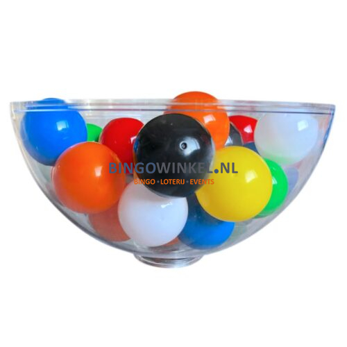loterijballen in schaal
