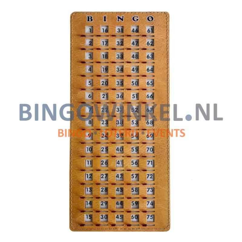 Bingo controle schuifplank schuifjes open