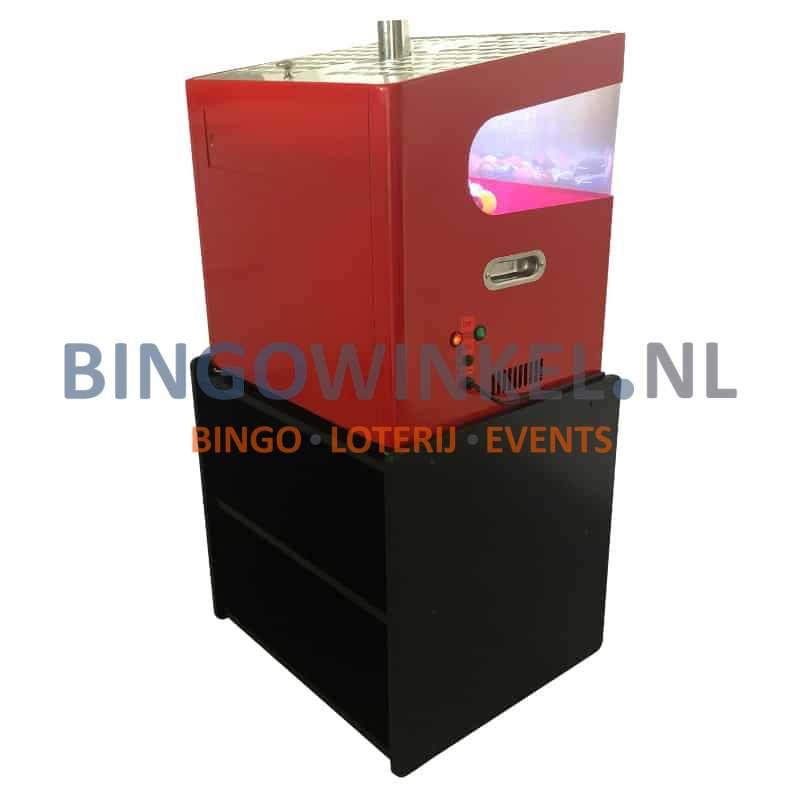kabinet met bingo blower machine achterkant