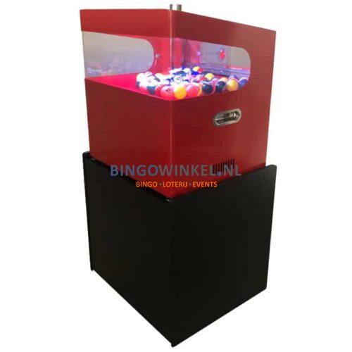 kabinet met bingo blower machine voorkant