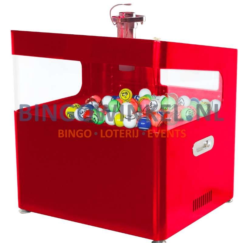 Bingo Blower Machine rood