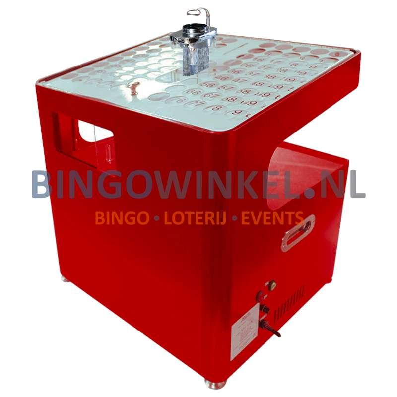Bingo Blower machine rood achterkant